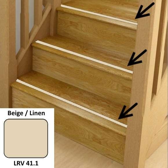 Beige Linen Anti Slip Stairs Inserts