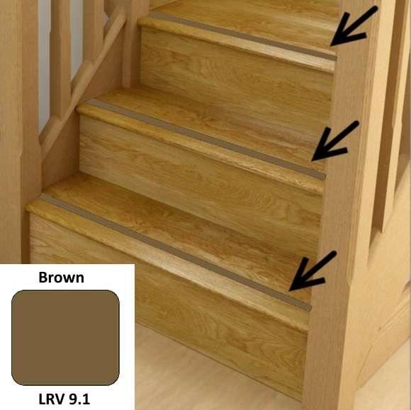 Brown Anti Slip Stairs Inserts